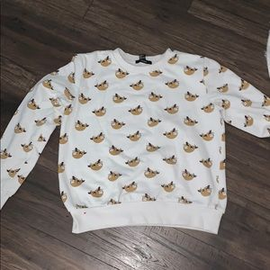 White Sloth Sweater